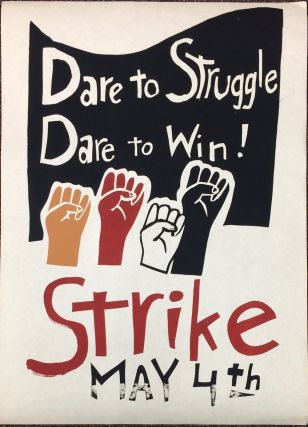 Dare to struggle / Dare to win! / Strike / May 4th [poster