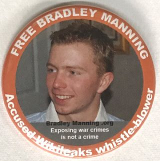 Free Bradley Manning / Accused Wikileaks whistle-blower / Exposing war crimes is not a crime...
