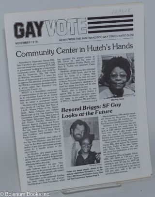 Gay vote: news from the San Francisco Gay Democratic Club; November 1978
