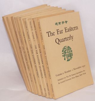 The Far Eastern Quarterly [seven issues, together with the Far Eastern Bibliography for 1947 and...