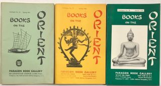 Books on the Orient [Three catalogs from the Paragon Book Gallery: nos. 19, 27 and 28