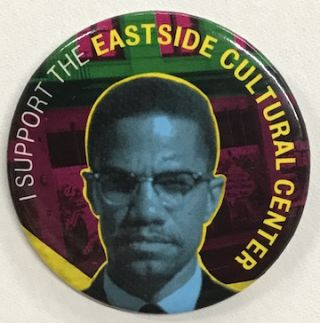 I support the Eastside Cultural Center [pinback button]
