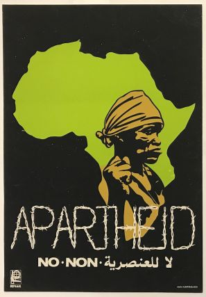 Apartheid No [screen print poster]. Alberto Blanco, artist.