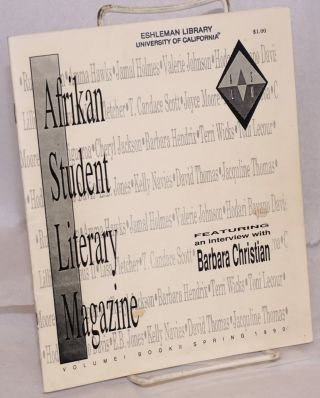 Afrikan Student Literary Magazine: Vol. 1 Book II (Spring 1990