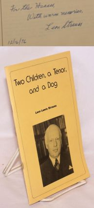 Two Children, a Tenor, and a Dog. Leon Lewis Strauss