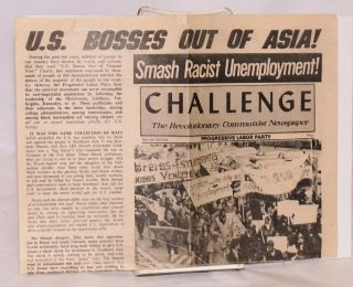 "Challenge, the Revolutionary Communist Newspaper. Special edition: ""US Bosses out of Asia!"""