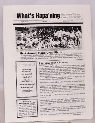 What's Hapa'ning: the Hapa issues forum newsletter. Vol. 4 no. 2 (Fall 1996