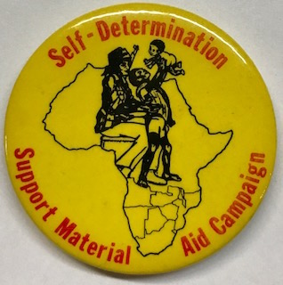 Self-Determination / Support Material Aid Campaign [pinback button