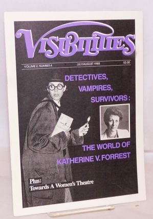 Visibilities: vol. 2, #4, July/August 1988: Detectives, Vampires, Survivors. Susan T. Chasin,...