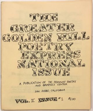 Greater Golden Hill poetry express. Vol. II no. 1. National Issue