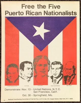 Free the Five Puerto Rican Nationalists [poster