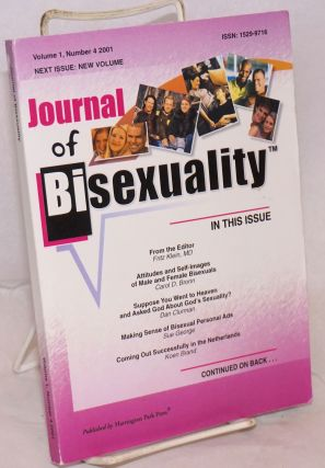Journal of bisexuality; volume 1, number 4. Fritz Klein