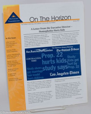 On the Horizon: the Nation's first gay and lesbian community foundation Spring 2000 [newsletter