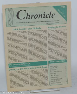 ISMIR Chronicle: the newsletter of the International Sexual Minorities Information Resource;...