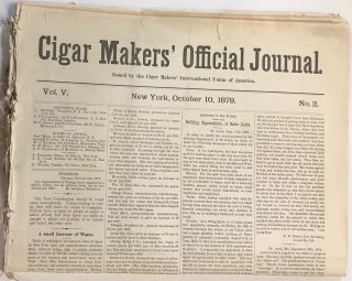 Cigar makers' official journal [seven issues