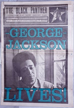 The Black Panther Intercommunal News Service vol. VII, no. 1, Saturday, August 28, 1972. George Jackson Lives!