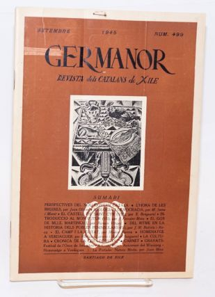 Germanor: revista dels Catalans de Xile. No. 499 (Sept. 1945