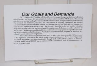 Our Goals and Demands [leaflet]. ACT U., the AIDS Coalition to Unleash Power