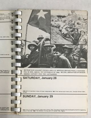 1978 Workers History appointment calendar