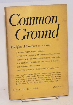 Common Ground. Vol. II, No. 3 (Spring 1942). M. Margaret Anderson