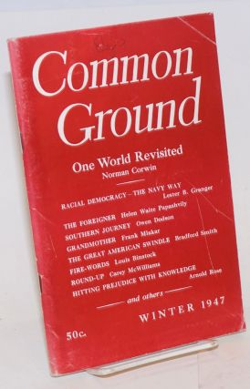 Common Ground. Vol. VII, No. 2 (Winter 1947). M. Margaret Anderson