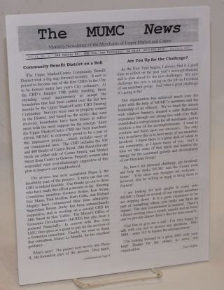 The MUMC News: monthly newsletter of the Merchants of Upper market; vol. 14, #1, February 2005