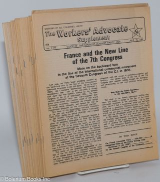 The Workers' Advocate Supplement [fourteen issues]. Marxist-Leninist Party of the USA