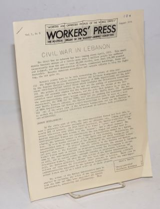 Workers' Press. The political organ of the Marxist-Leninist Collective. Vol. 2 no. 8 (August...