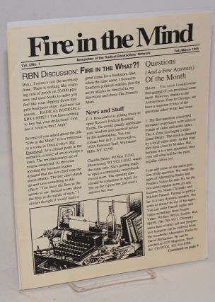 Fire in the Mind. Newsletter of the Radical Booksellers' Network. Vol. 2 no. 1 (Feb/March 1995