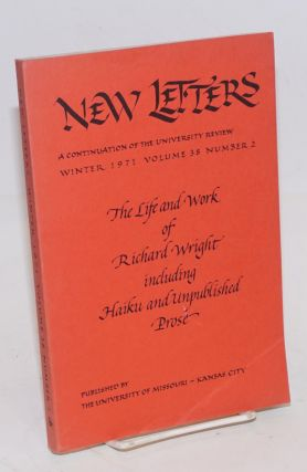 New Letters: a continuation of The University Review. Vol. 38, no. 2, December, 1971. David Ray,...