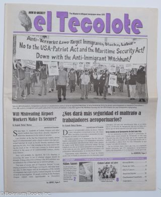 El Tecolote: the Mission's bilingual newspaper since 1970; February 13-26, 2002 cover photo of...