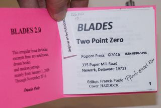 Blades, Two Point Zero (2.0). Cover by Haddock