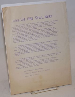 Why we are still here [handbill
