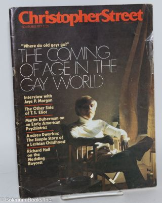 Christopher Street: vol. 2, #5, November 1977; Coming of Age in the Gay World. Charles L. Ortleb,...