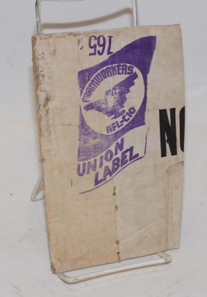 Farmworkers AFL-CIO Union Label [rubberstamp on a section of a cardboard box