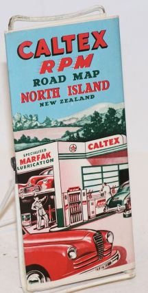 Caltex Power-Chief [aka RPM] Road Map North Island New Zealand. New Zealand map