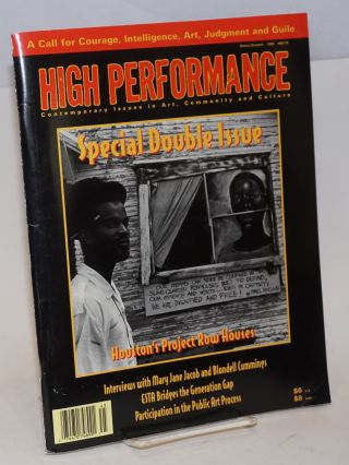 High Performance; Contemporary Issues in Art, Community and Culture, Double Issue Spring/Summer 1995, #69/70