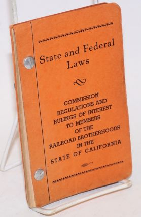 State and Federal Laws. G. W. Ballard, state legislative representative, et alia