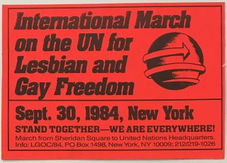International March on the United Nations for Lesbian and Gay Freedom [sticker