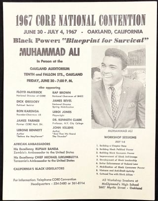 1967 CORE National Convention, June 30 - July 4, 1967 - Oakland, California. Black Power:...