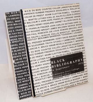Black bibliography [together with 1972 supplement]. Inso Chung, Bruce Smithson, Elizabeth Sibley, Floyd Erickson.