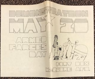 Demonstration May 20. Armed Farces Day. Ft. Dix, McQuire AFB [broadside