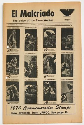 El Malcriado: The voice of the farm worker vol. 4, no. 9, Nov. 1, 1970; 1970 commemorative stamps