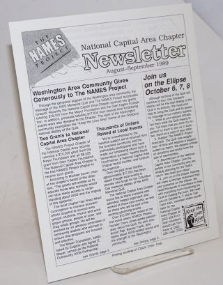 The Names Project National Capital Area Chapter newsletter: August-September 1989