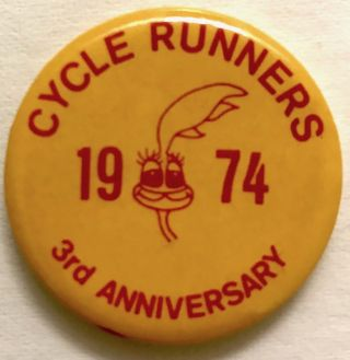 Cycle Runners / 1974 / 3rd anniversary [pinback button