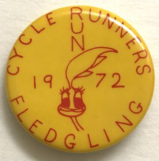 Cycle Runners / 1972 / Fledgling [pinback button