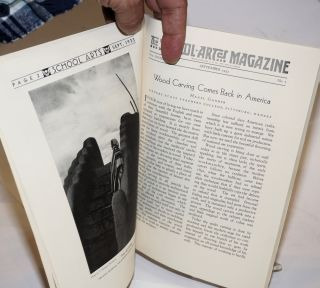 [Native American topics] The School-Arts Magazine, A Publication for those interested in Fine and Applied Art. Vol. xxxiii September 1933 Number 1