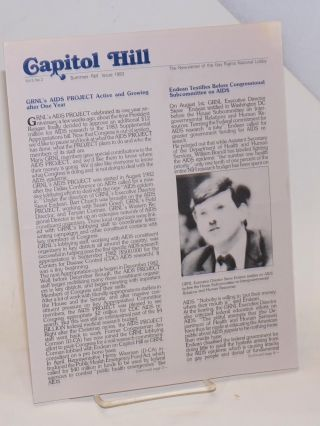 Capitol Hill: the newsletter of the Gay Rights National Lobby; vol. 5, #2, Summer/Fall 1983;...