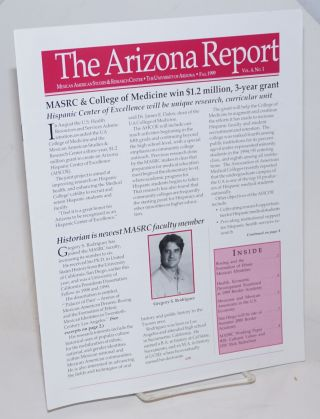 The Arizona Report: Mexican American Studies & Research Center newsletter; vol. 4, #1, Fall 1999
