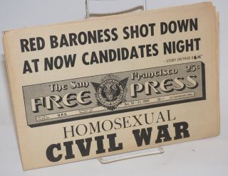 The San Francisco Free Press: vol. 1, #3, Oct. 16-31, 1969; Homosexual Civil War. Marcus...